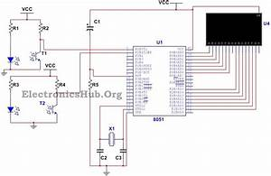 Bidirectional Visitor Counter Circuit Using 8051