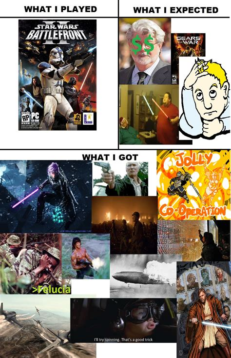 Star Wars Battlefront 2 Memes - star wars battlefront ii what i got what i watched what i expected what i got know your