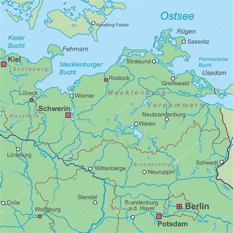 Karte Von Deutschland Ostsee Hoch Detailliert ...