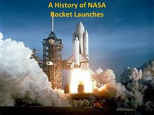 A history of nasa rocket launches