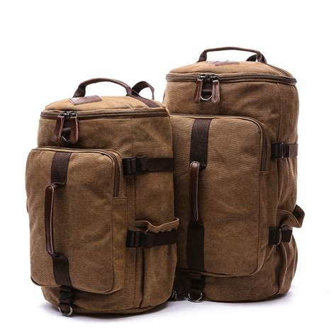 SNAP TOURS Canvas Travel Bag For Men Large Capacity Male ...
