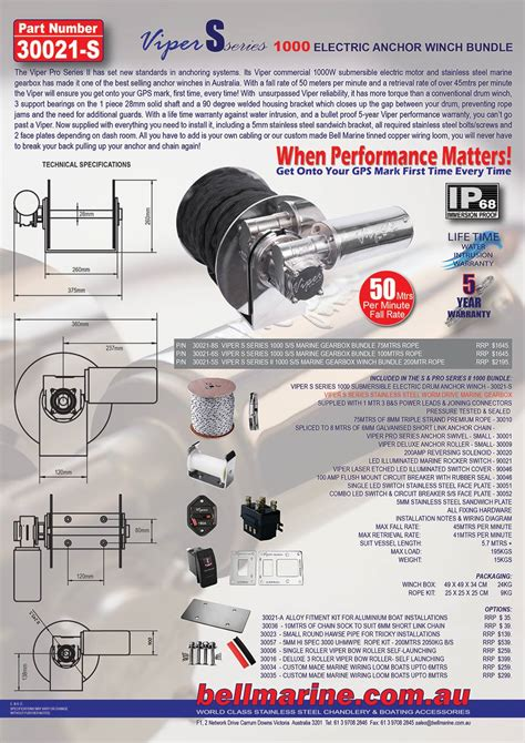 Viper 3000 Wiring Diagram by Viper S Series Rapid 1000 Winch Bundle 100m Rope Chain