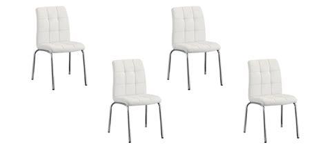 lot 4 chaises blanches lot de 4 chaises blanches a vite essayer garantie satisfaction 60 jours