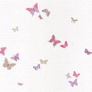 Babyzimmer Tapete Mädchen : caselio 39 pretty lili 39 tapete 39 schmetterlinge 39 pink flieder beige bei fantasyroom online kaufen ~ Frokenaadalensverden.com Haus und Dekorationen