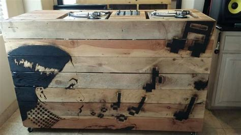 wooden dj table wooden dj booth artwork by byers and woodwork by