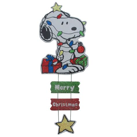 20in snoopy wrapped in light wall hanging