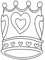Crown Coloring Pages Print sketch template