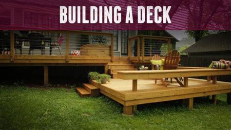 building a deck diy