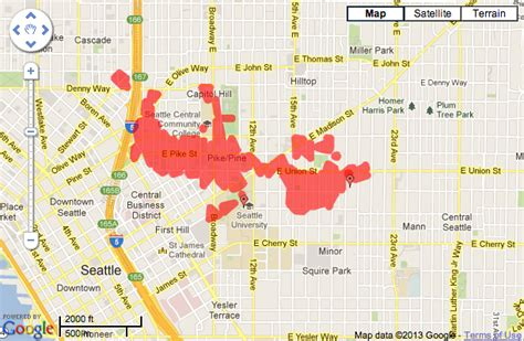 seattle city light outage power outage hits big swath of hill after truck rips down