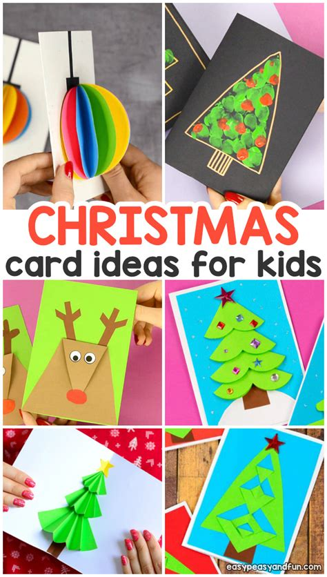 diy homemade christmas card ideas easy peasy  fun