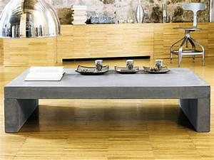 Table Basse Effet Beton : table basse imitation beton cire table de lit a roulettes ~ Teatrodelosmanantiales.com Idées de Décoration