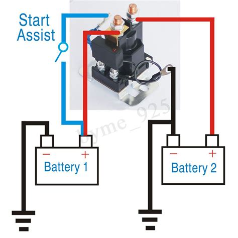 12v Dual Battery Isolator Relay Starter On/off Car Power