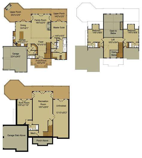 One story (rambler) view rambler floor plans. Lake House Floor Plans Walkout Basement - House Plans | #88204