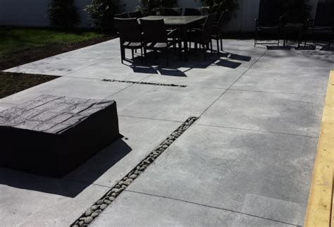 light gray area rug modern concrete patio island modern patio