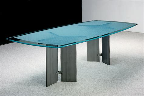 Modern Glass Top Conference Table