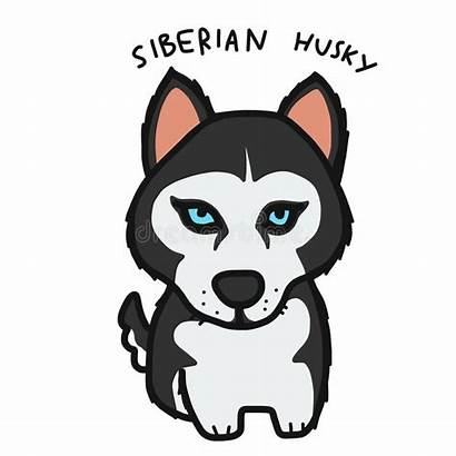 Husky Cartoon Dog Siberian Illustrazione Vettore Het
