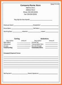 Printable Letterhead Templates 5 Self Employed Payslip Template Salary Slip