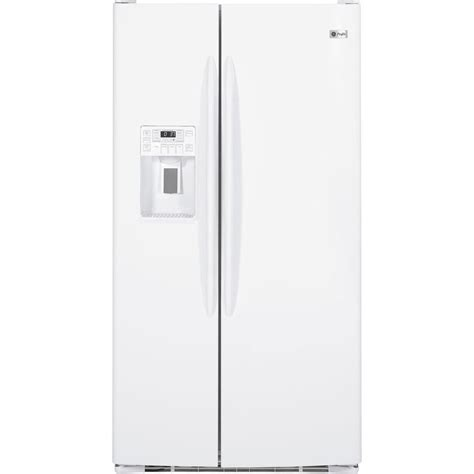 ge profile 29 1 cu ft side by side refrigerator in white pshf9pgzww the home depot