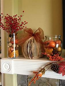 Pinterest Decoration : decorating fall decorating ideas for your mantel walking on sunshine ~ Melissatoandfro.com Idées de Décoration