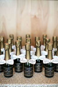 a romantic spring wedding in st louis best mini bottles With champagne bottle favors for weddings