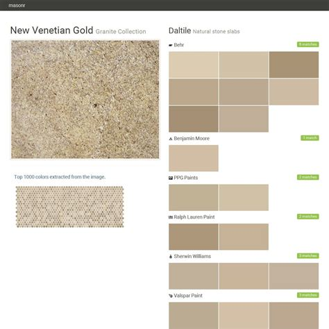 new venetian gold granite collection natural slabs daltile behr benjamin ppg