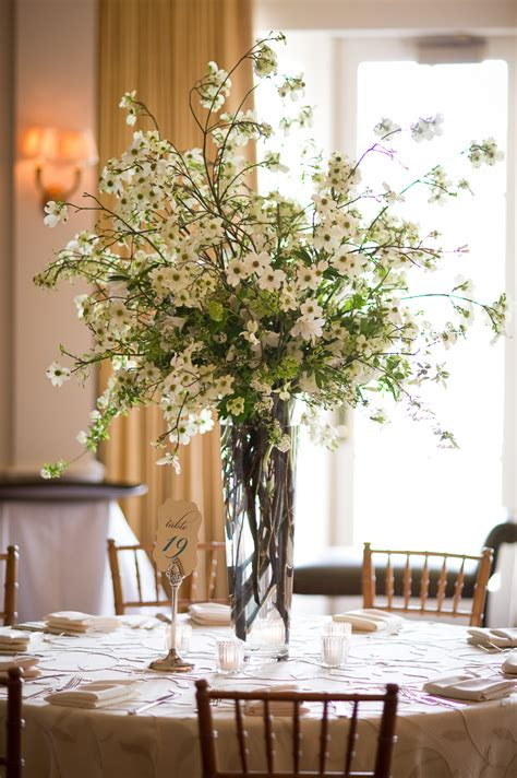 tall white freesia reception arrangement elizabeth anne