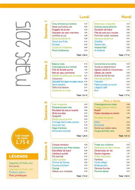 menu cuisine collective menu scolaire le cuisinier mars 2015 vici
