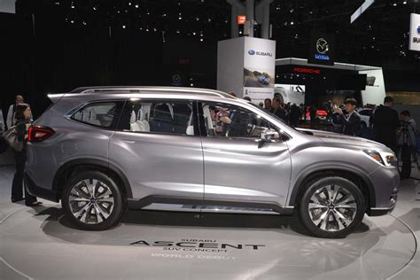 Subaru New Models by 2018 Subaru Ascent Suv Revealed In New York The Drive