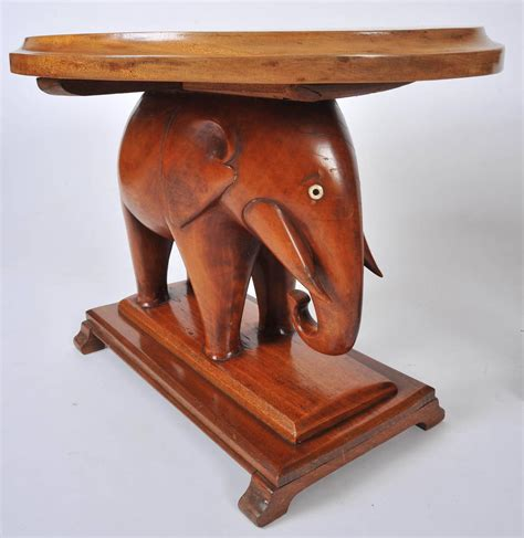 elephant tables for sale pair of decorative carved elephant side tables for sale at