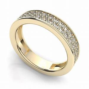 women39s full eternity ring set with two rows of diamonds With wedding ring women