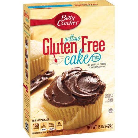 betty crocker gluten  yellow cake mix  oz walmartcom