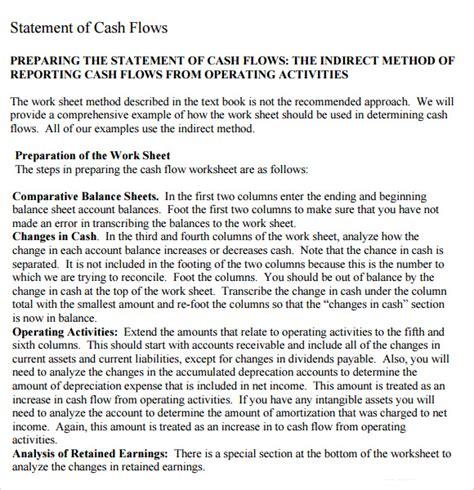 cash flow statement samples  google docs ms