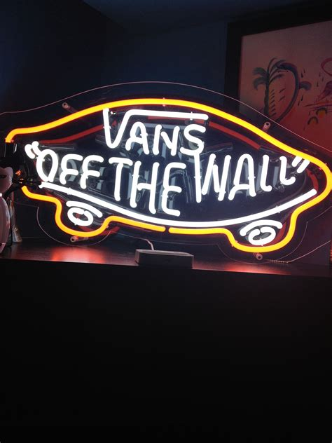my vans off the wall neon sign xxx room themes pinterest
