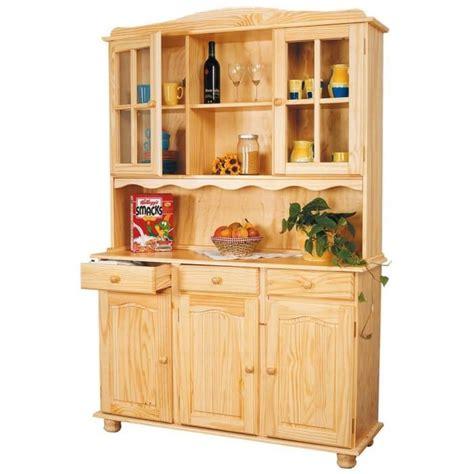 buffet cuisine en pin bahut vaisselier toscana en pin massif vernis n achat