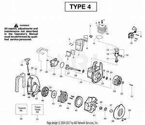 Poulan Wt200le Gas Blower Type 4 Parts Diagram For Engine Type 4