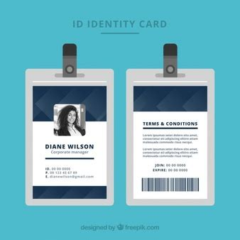 template id card gratis id card designs vectors photos and psd files free