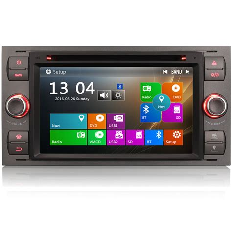 direct fit head unit gps radio sat nav dvd bluetooth stereo for ford transit mk7 ebay