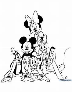 Disney Mickey Mouse And Friends Coloring Page Bell