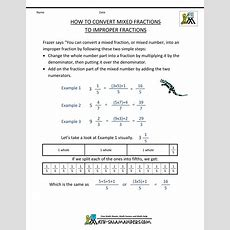 Mixed Number Improper Fraction Worksheet Image Worksheet Mogenk Paper Works