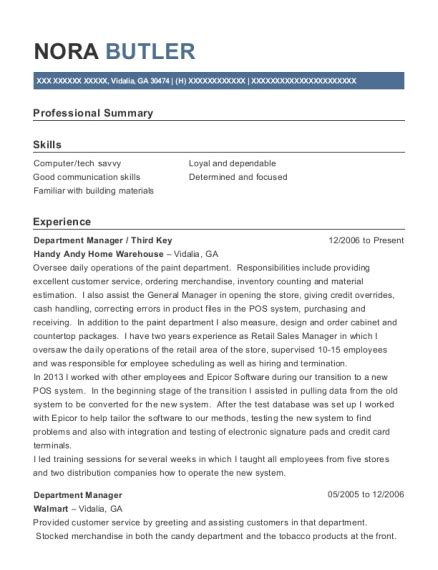 Lowes Resume Sle by Lowes Department Manager Resume Sle Broadalbin New
