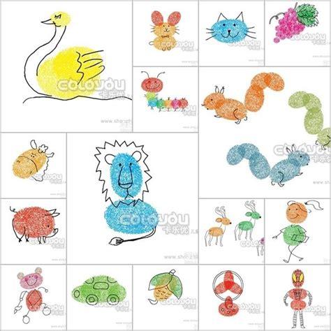 diy fingerprint drawing artwork  kids  kids kids