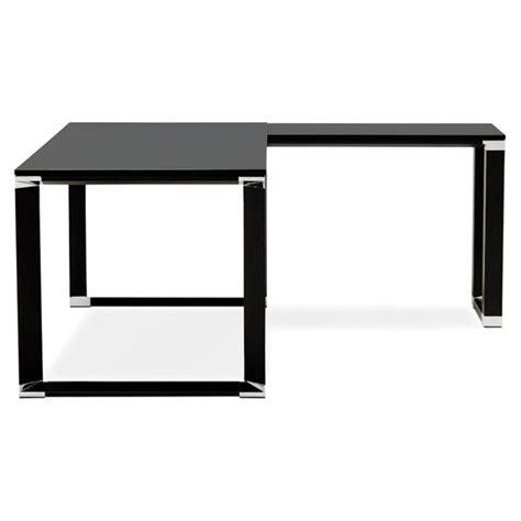 bureau bois noir bureau d 39 angle design quot hovik quot bois noir