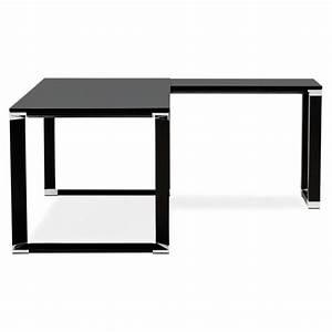 Bureau D Angle Design : bureau d 39 angle design hovik bois noir ~ Teatrodelosmanantiales.com Idées de Décoration