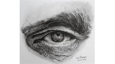draw hyper realistic  man eye  pencil sketch udemy