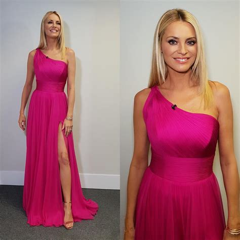 Tess Daly in Pink Dress on BBC Strictly Come Dancing