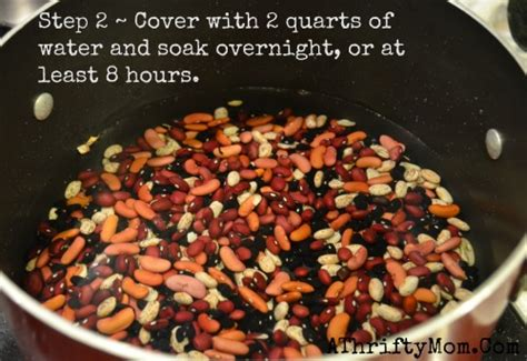 chili  dried beans  easy steps