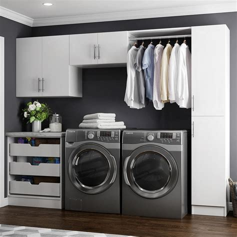 Utility Room Storage Cupboards by Modifi Horizon 105 In W White Laundry Cabinet Kit Enl105