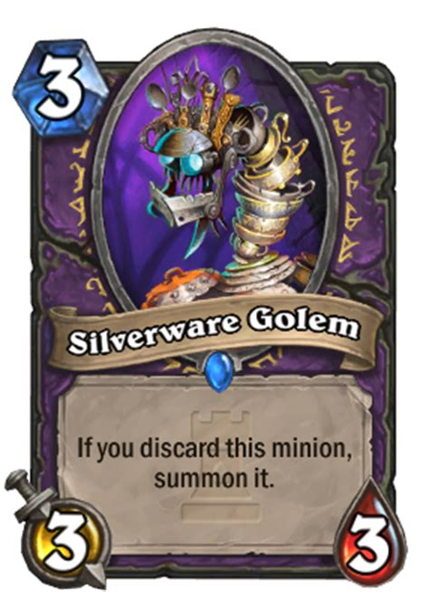 hearthstone warlock deck hearthpwn silverware golem hearthstone heroes of warcraft wiki