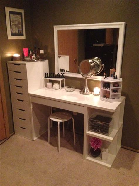 makeup vanity ikea dresser unit gorgeous space create
