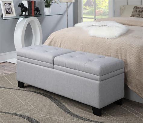 upholstered storage bench trespass marmor upholstered storage bed bench from pulaski